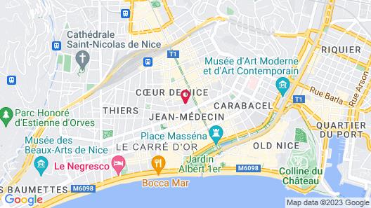 Hotel Boreal Map