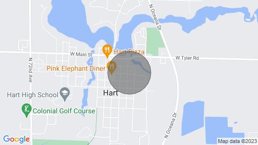 Big Pink Home in Hart MI Map