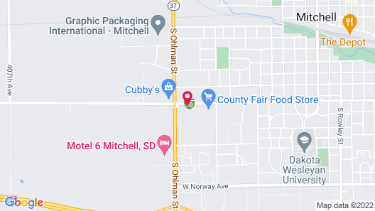 Ramada Hotel & Conference Center by Wyndham Mitchell Map