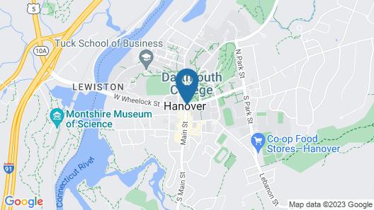 Hanover Inn Dartmouth Map