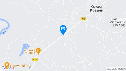 Hotel Djerdan Map