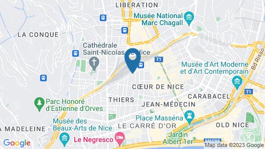 ibis Nice Centre Gare Map