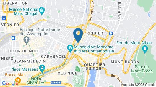 Aparthotel Adagio access Nice Acropolis Map