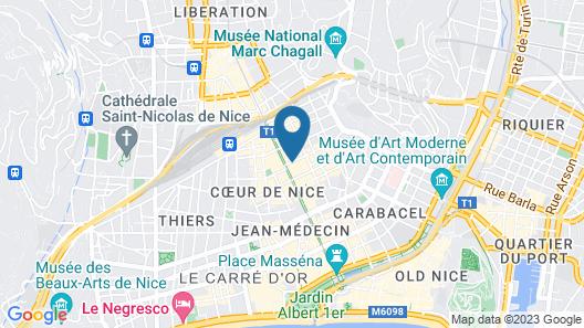 Mercure Nice Centre Notre Dame Map