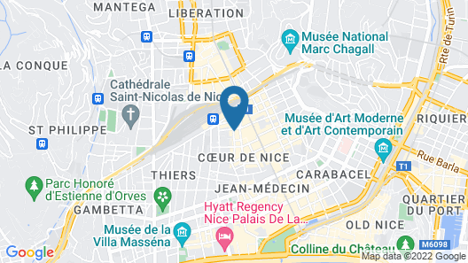 Hôtel OZZ By Happyculture Map
