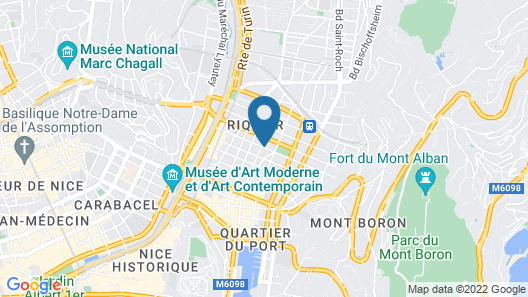 easyHotel Nice Palais des Congrès – Old Town Map