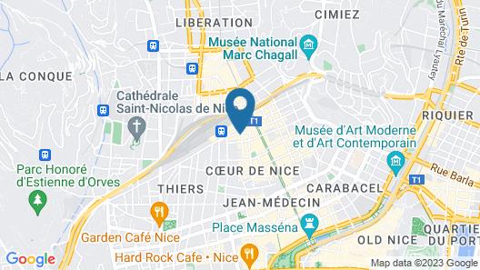 Hotel Azurea Map