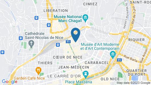 ibis Nice Centre Notre Dame Map