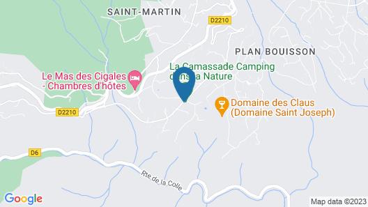 Camping La Camassade Map