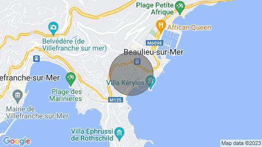 Studio, Beaulieu sur Mer Centre, Air con, 2 mins walk to beach Map