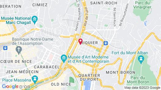 Hôtel Esprit d'Azur Map