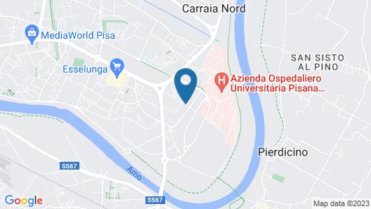 Hotel San Ranieri Map