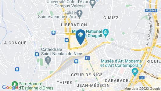 Hôtel Monsigny Nice Map