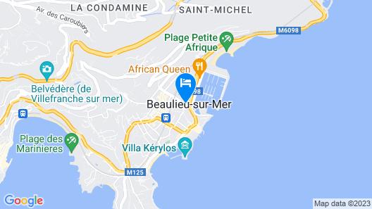 The Originals City, Hôtel Frisia, Beaulieu-sur-Mer (Inter-Hotel) Map