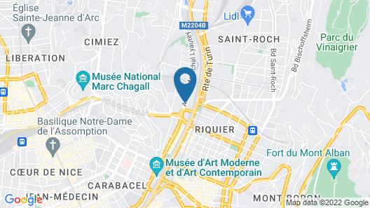 Novotel Nice Centre Vieux Nice Map