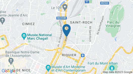 Appart'City Nice Acropolis Map