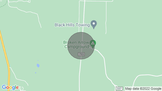 Heart of the Black Hills, Bordering National Forest, Fresh Air & Bright Stars!! Map