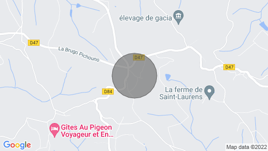 Gîte La Pradelle, in the countryside Map