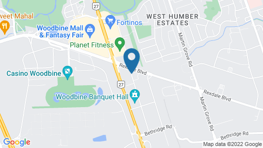 Comfort Hotel Airport North Map