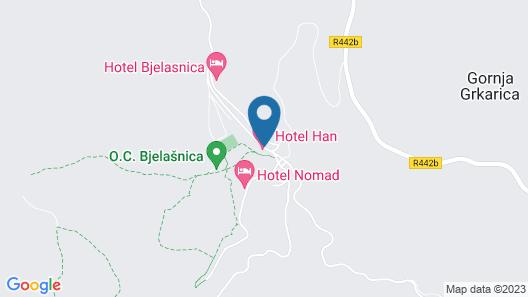 Hotel Han Bjelasnica Map