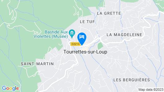 Auberge de Tourrettes Map