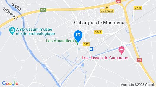 Camping les Amandiers Map