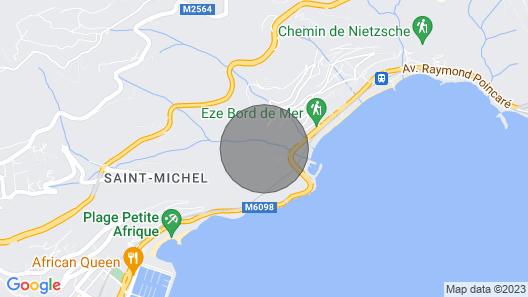 Between Monaco & St Jean Cap Ferrat, Eze Bord de Mer, 200 m From the Beach Map