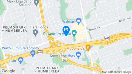 Toronto Plaza Airport Hotel-formelydays Hotel &con Map