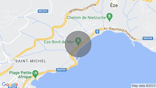 Eze sur mer Maison 3 Minutes à Pied de la Plage Map