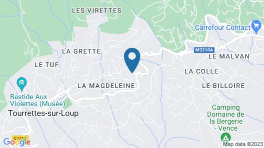 Le Mazet de Tourrettes Map