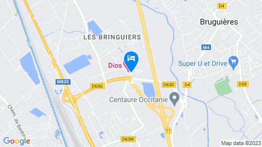 Dios Hôtel - Toulouse Nord Map
