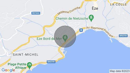 Luxury Family Villa in Èze Map