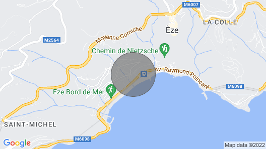 A Charming Villa Close to the Beaches of Eze sur Mer Map