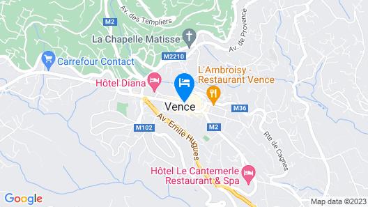 Hotel La Victoire Map