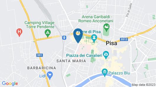 Hotel Pisa Tower Map