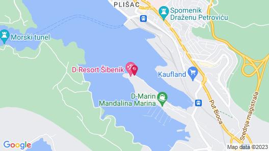 D-Resort Šibenik Map