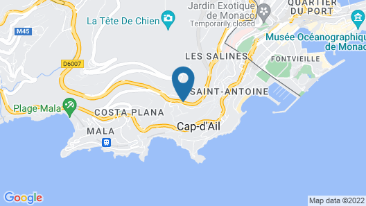 Villa Azur Map