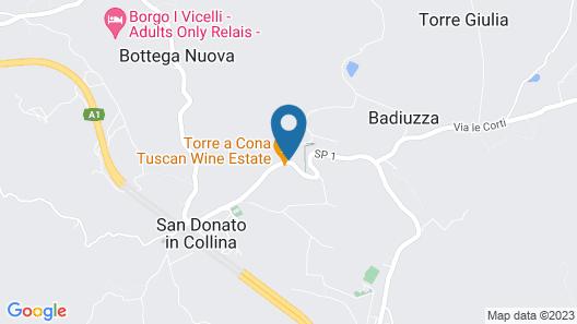Torre a Cona Wine Estate Map