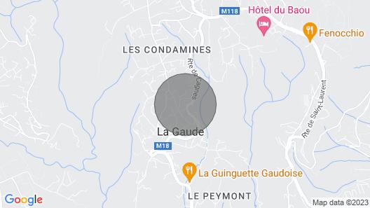 3 Bedroom Accommodation in La Gaude Map