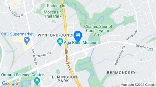 Toronto Don Valley Hotel and Suites Map