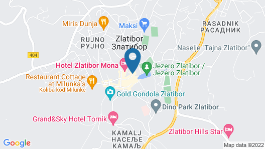 Hotel Zlatibor Mona Map