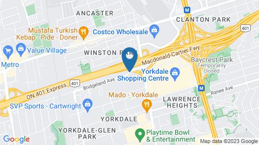 Holiday Inn Toronto Yorkdale Map