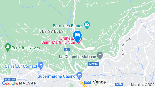 Chateau Saint-Martin & Spa - an Oetker Collection Hotel Map