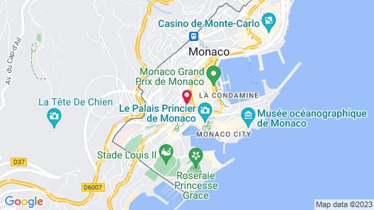 Hotel Ambassador Monaco Map