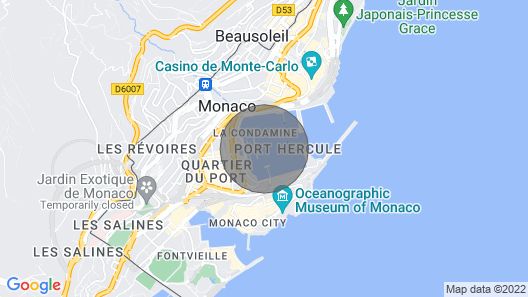 Luxurious Yacht IN THE Heart OF Monaco Map