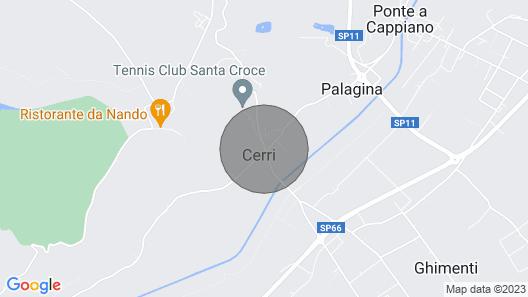 CasaLina - in the heart of Tuscany Map