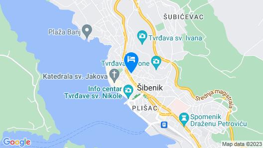 Sibenik Apartments STARS Map