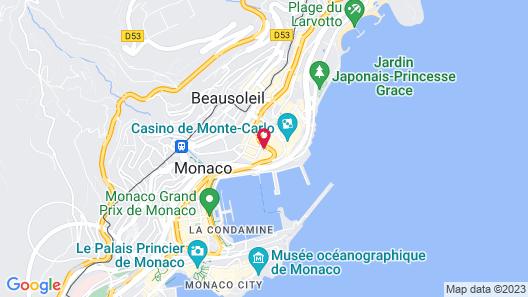 Hôtel Hermitage Monte-Carlo Map