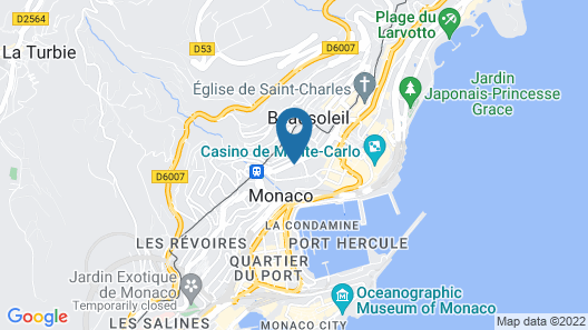 Hotel Novotel Monte Carlo Map