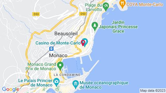 Hôtel de Paris Monte-Carlo Map
